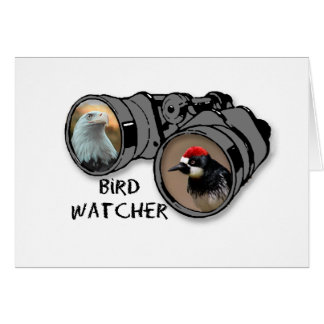 Bird Watcher Design w/Eagle & Woodpecker Card