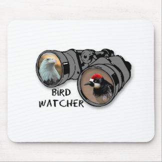 Bird Watcher Design w/Eagle & Woodpecker Mouse Pad