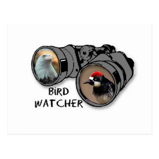 Bird Watcher Design w/Eagle & Woodpecker Postcard