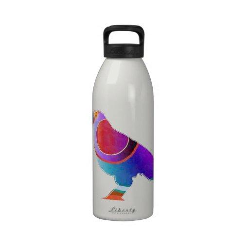 BIRD Watcher KIDS :  Exotic Wild Life Graphic Art Reusable Water Bottles