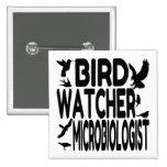 Bird Watcher Microbiologist 2 Inch Square Button