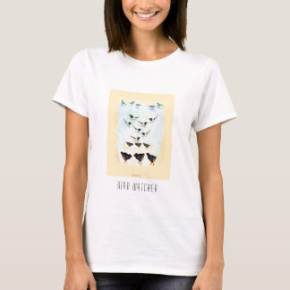 Bird watcher - multi bird painting T-Shirt