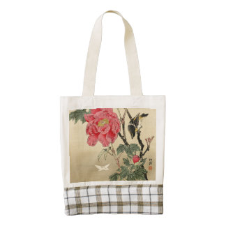 Bird watching a butterfly zazzle HEART tote bag