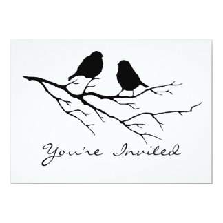 "Bird Watching Birthday Party Invite to Customize 5"" X 7"" Invitation Card"