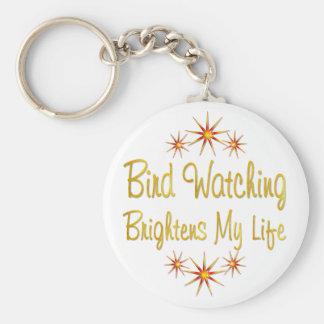 Bird Watching Brightens My Life Key Chain