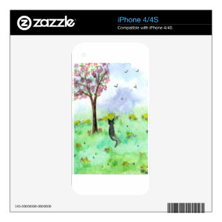 Bird watching Cat Skins For iPhone 4S