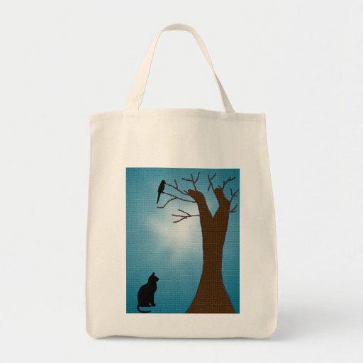 Bird Watching Cat Tote Bag