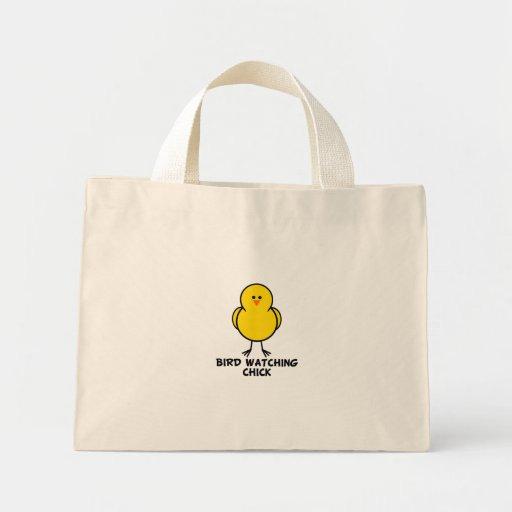 Bird Watching Chick Mini Tote Bag