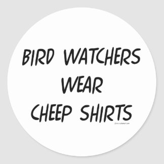 Bird Watching Classic Round Sticker