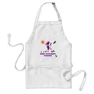 Bird Watching Fanatic Design Adult Apron