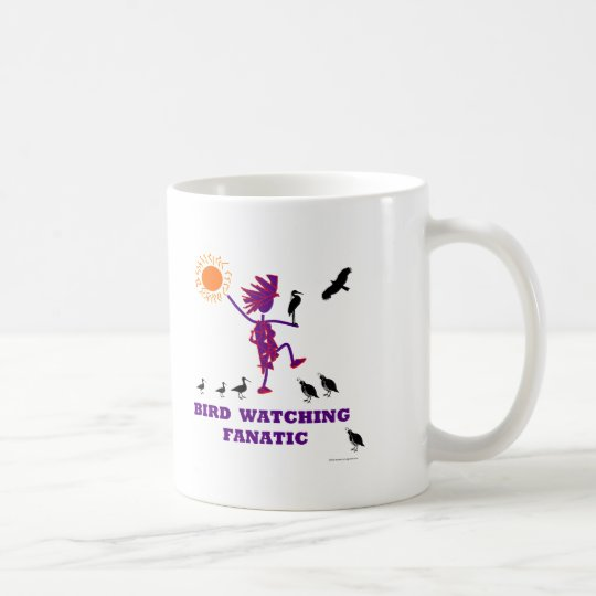 Bird Watching Fanatic Design Coffee Mug