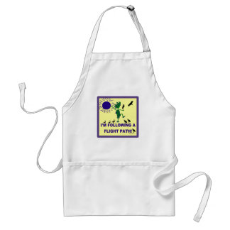 Bird Watching Flight Path Design Adult Apron