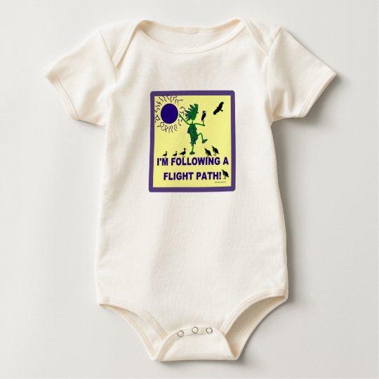 Bird Watching Flight Path Design Baby Bodysuit