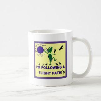 Bird Watching Flight Path Design Classic White Coffee Mug
