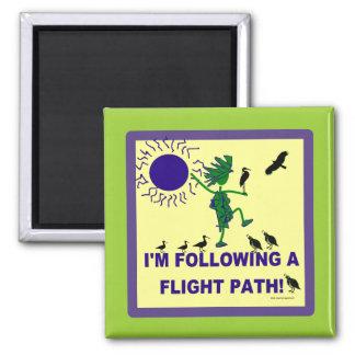 Bird Watching Flight Path Design Fridge Magnets