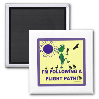Bird Watching Flight Path Design Magnet
