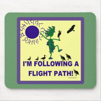 Bird Watching Flight Path Design Mouse Pad