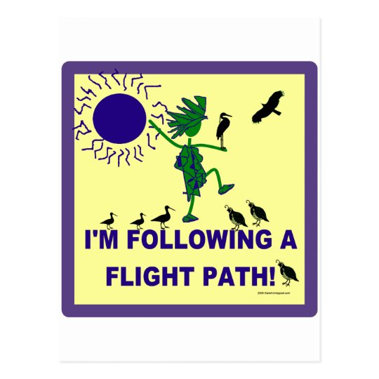Bird Watching Flight Path Design Postcard