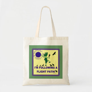 Bird Watching Flight Path Design Tote Bag