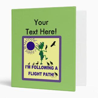 Bird Watching Flight Path Design Vinyl Binders
