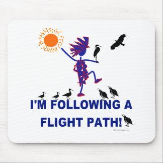 Bird Watching Flight Path Mouse Pad