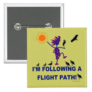 Bird Watching Flight Path Pinback Button