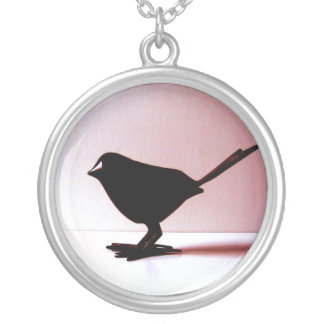 Bird Watching for Dummies necklace Round Pendant Necklace