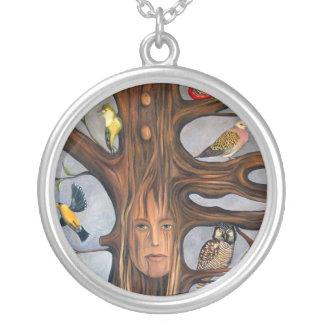 Bird Whisperer Round Pendant Necklace