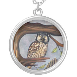 Bird Whisperer Round Pendant Necklace