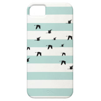 Bird White and blue striped iPhone 5 marries iPhone SE/5/5s Case