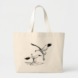 Bird / Whooping Crane Canvas Bags