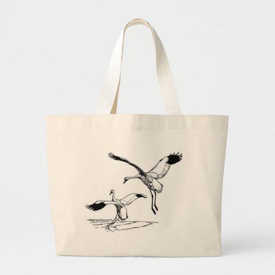 Bird / Whooping Crane Large Tote Bag