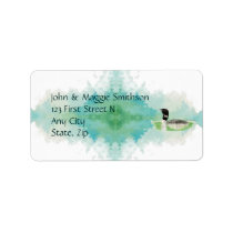 Bird Wildlife Painting Watercolor Loon Address Label