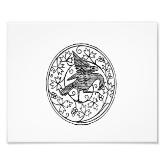 Bird wings up vintage jagged image png photo art
