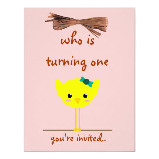 """bird wire invitation 4.25"""" x 5.5"""" invitation card"""
