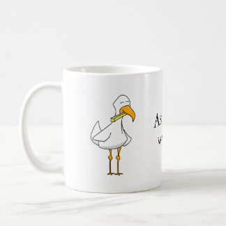 Bird with a french fry mug