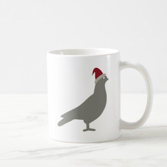 Bird with a Santa Hat Coffee Mug