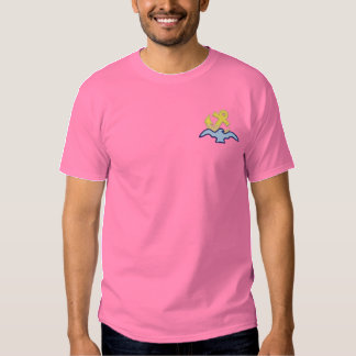 Bird with Anchor Embroidered T-Shirt
