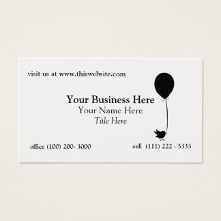 Bird with Balloon Business Card