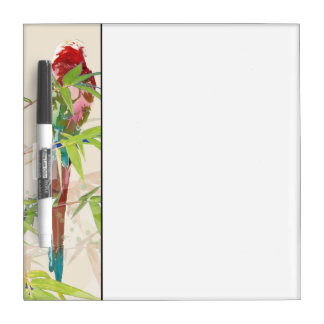 Bird with Bamboo Leaves Dry-Erase Board