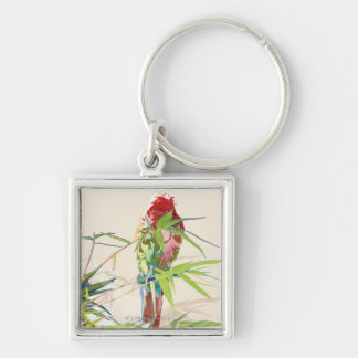 Bird with Bamboo Leaves Keychain
