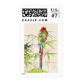 Bird with Bamboo Leaves Postage