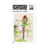 Bird with Bamboo Leaves Postage Stamp