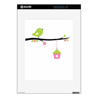 Bird with cage decal for the iPad