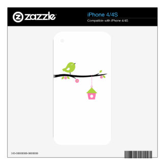 Bird with cage skin for iPhone 4S