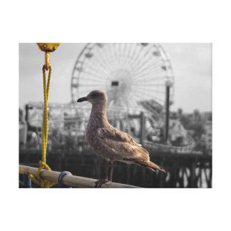 Bird with Ferris Wheel Canvas Print