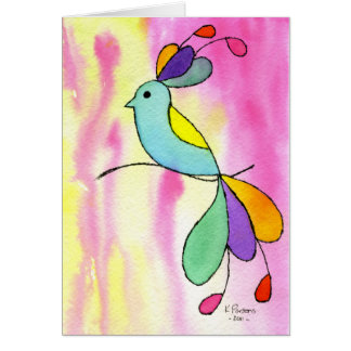 Bird with Lovely Tail Card