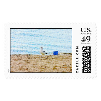 Bird with Sand Pail Postage