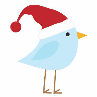 Bird with Santa Hat Christmas Ornament