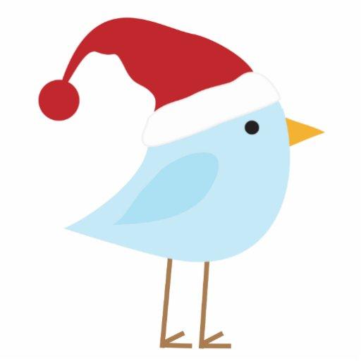 Bird with Santa Hat Christmas Ornament Photo Sculptures ...